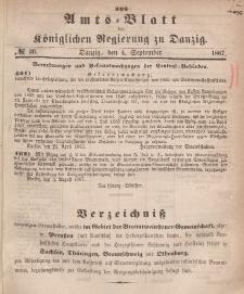 Amts-Blatt der Königlichen Regierung zu Danzig, 4. September 1867, Nr. 36