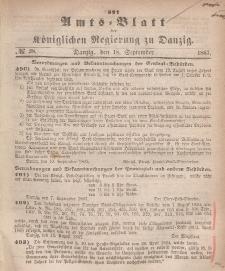 Amts-Blatt der Königlichen Regierung zu Danzig, 18. September 1867, Nr. 38