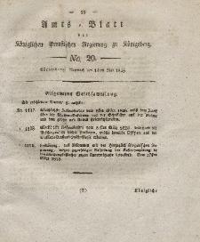 Amts-Blatt der Königlichen Preußischen Regierung zu Königsberg, Mittwoch, 14. Mai 1828, Nr. 20