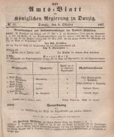 Amts-Blatt der Königlichen Regierung zu Danzig, 2. Oktober 1867, Nr. 41