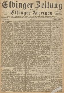 Elbinger Zeitung und Elbinger Anzeigen, Nr. 86 Donnerstag 11. April 1889