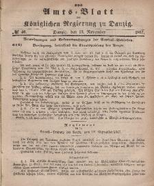 Amts-Blatt der Königlichen Regierung zu Danzig, 13. November 1867, Nr. 46
