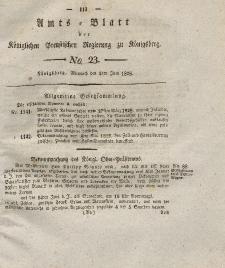 Amts-Blatt der Königlichen Preußischen Regierung zu Königsberg, Mittwoch, 4. Juni 1828, Nr. 23