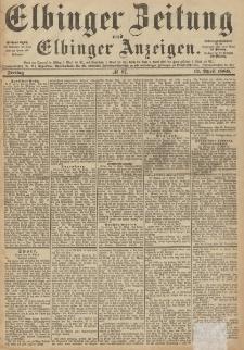 Elbinger Zeitung und Elbinger Anzeigen, Nr. 87 Freitag 12. April 1889