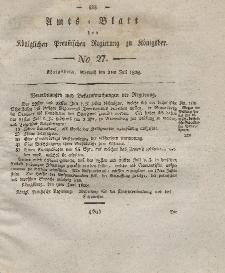 Amts-Blatt der Königlichen Preußischen Regierung zu Königsberg, Mittwoch, 2. Juli 1828, Nr. 27