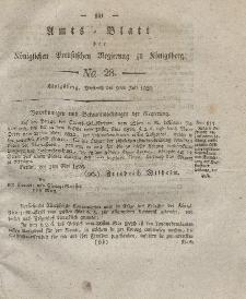 Amts-Blatt der Königlichen Preußischen Regierung zu Königsberg, Mittwoch, 9. Juli 1828, Nr. 28