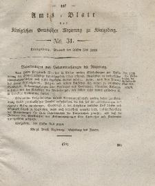 Amts-Blatt der Königlichen Preußischen Regierung zu Königsberg, Mittwoch, 30. Juli 1828, Nr. 31