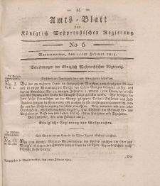 Amts-Blatt der Königlich Westpreußischen Regierung zu Marienwerder, 11. Februar 1814, No. 6.