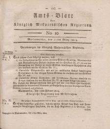 Amts-Blatt der Königlich Westpreußischen Regierung zu Marienwerder, 11. März 1814, No. 10.