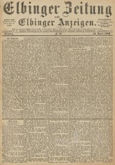 Elbinger Zeitung und Elbinger Anzeigen, Nr. 90 Dienstag 16. April 1889