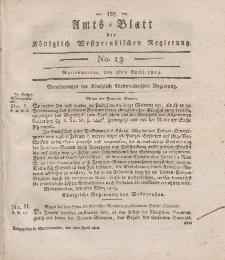Amts-Blatt der Königlich Westpreußischen Regierung zu Marienwerder, 1. April 1814, No. 13.