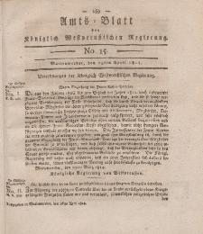 Amts-Blatt der Königlich Westpreußischen Regierung zu Marienwerder, 15. April 1814, No. 15.