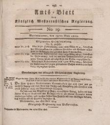 Amts-Blatt der Königlich Westpreußischen Regierung zu Marienwerder, 13. Mai 1814, No. 19.