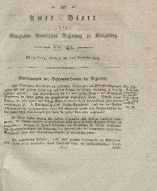 Amts-Blatt der Königlichen Preußischen Regierung zu Königsberg, Mittwoch, 5. November 1828, Nr. 45