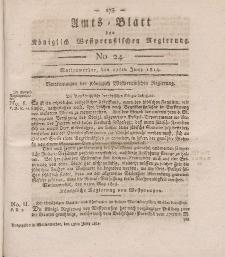 Amts-Blatt der Königlich Westpreußischen Regierung zu Marienwerder, 17. Juni 1814, No. 24.