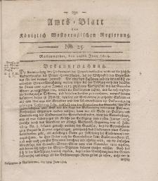 Amts-Blatt der Königlich Westpreußischen Regierung zu Marienwerder, 24. Juni 1814, No. 25.
