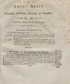 Amts-Blatt der Königlichen Preußischen Regierung zu Königsberg, Mittwoch, 3. Dezember 1828, Nr. 49