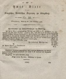 Amts-Blatt der Königlichen Preußischen Regierung zu Königsberg, Mittwoch, 10. Dezember 1828, Nr. 50