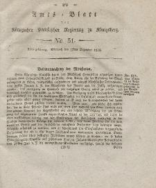 Amts-Blatt der Königlichen Preußischen Regierung zu Königsberg, Mittwoch, 17. Dezember 1828, Nr. 51