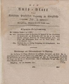 Amts-Blatt der Königlichen Preußischen Regierung zu Königsberg, Mittwoch, 9. Januar 1822, Nr. 2