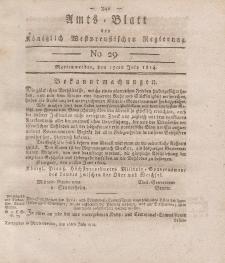 Amts-Blatt der Königlich Westpreußischen Regierung zu Marienwerder, 15. Juli 1814, No. 29.