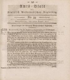 Amts-Blatt der Königlich Westpreußischen Regierung zu Marienwerder, 19. August 1814, No. 34.
