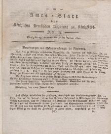 Amts-Blatt der Königlichen Preußischen Regierung zu Königsberg, Mittwoch, 30. Januar 1822, Nr. 5