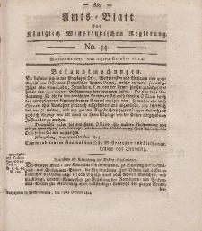 Amts-Blatt der Königlich Westpreußischen Regierung zu Marienwerder, 28. Oktober 1814, No. 44.