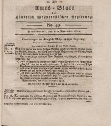 Amts-Blatt der Königlich Westpreußischen Regierung zu Marienwerder, 2. Dezember 1814, No. 49.