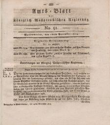 Amts-Blatt der Königlich Westpreußischen Regierung zu Marienwerder, 16. Dezember 1814, No. 51.