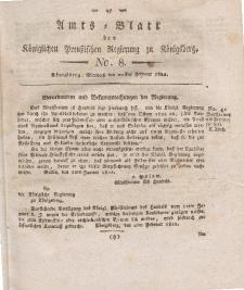 Amts-Blatt der Königlichen Preußischen Regierung zu Königsberg, Mittwoch, 20. Februar 1822, Nr. 8