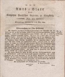 Amts-Blatt der Königlichen Preußischen Regierung zu Königsberg, Mittwoch, 13. März 1822, Nr. 11