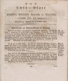 Amts-Blatt der Königlichen Preußischen Regierung zu Königsberg, Mittwoch, 10. April 1822, Nr. 15