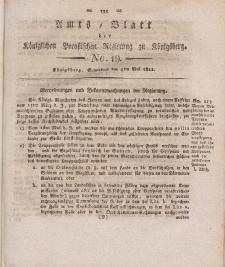 Amts-Blatt der Königlichen Preußischen Regierung zu Königsberg, Mittwoch, 4. Mai 1822, Nr. 19