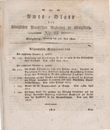 Amts-Blatt der Königlichen Preußischen Regierung zu Königsberg, Mittwoch, 5. Juni 1822, Nr. 25