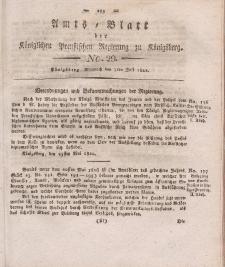 Amts-Blatt der Königlichen Preußischen Regierung zu Königsberg, Mittwoch, 3. Juli 1822, Nr. 29