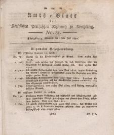 Amts-Blatt der Königlichen Preußischen Regierung zu Königsberg, Mittwoch, 17. Juli 1822, Nr. 31