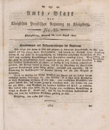 Amts-Blatt der Königlichen Preußischen Regierung zu Königsberg, Mittwoch, 14. August 1822, Nr. 35