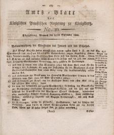 Amts-Blatt der Königlichen Preußischen Regierung zu Königsberg, Mittwoch, 11. September 1822, Nr. 39