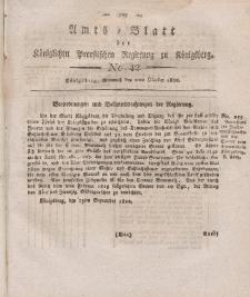 Amts-Blatt der Königlichen Preußischen Regierung zu Königsberg, Mittwoch, 2. Oktober 1822, Nr. 42