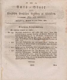 Amts-Blatt der Königlichen Preußischen Regierung zu Königsberg, Mittwoch, 9. Oktober 1822, Nr. 43