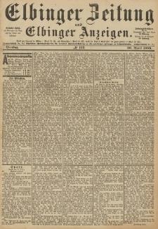 Elbinger Zeitung und Elbinger Anzeigen, Nr. 100 Dienstag 30. April 1889