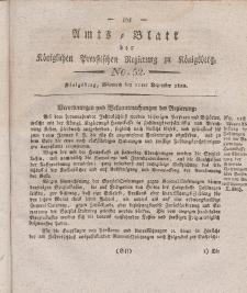 Amts-Blatt der Königlichen Preußischen Regierung zu Königsberg, Mittwoch, 11. Dezember 1822, Nr. 52