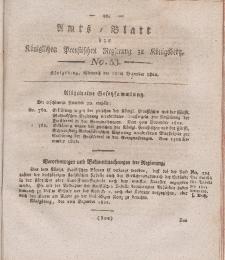Amts-Blatt der Königlichen Preußischen Regierung zu Königsberg, Mittwoch, 18. Dezember 1822, Nr. 53
