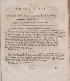 Amts-Blatt der Königlichen Preußischen Regierung zu Königsberg, Mittwoch, 25. Dezember 1822, Nr. 54