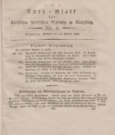 Amts-Blatt der Königlichen Preußischen Regierung zu Königsberg, Mittwoch, 5. Februar 1823, Nr. 6