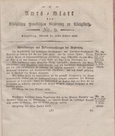 Amts-Blatt der Königlichen Preußischen Regierung zu Königsberg, Mittwoch, 26. Februar 1823, Nr. 9