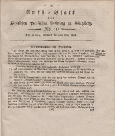 Amts-Blatt der Königlichen Preußischen Regierung zu Königsberg, Mittwoch, 5. März 1823, Nr. 10