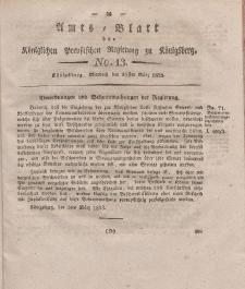 Amts-Blatt der Königlichen Preußischen Regierung zu Königsberg, Mittwoch, 26. März 1823, Nr. 13