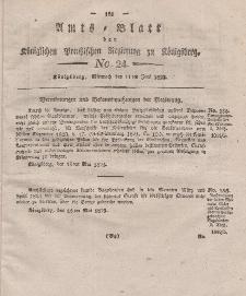 Amts-Blatt der Königlichen Preußischen Regierung zu Königsberg, Mittwoch, 11. Juni 1823, Nr. 24